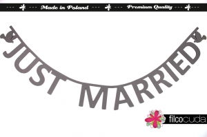 "Girlanda filcowa ""Just Married"""